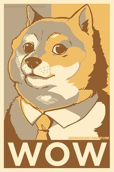 SUCH DOGE. AMAZE. MANY POSTER. WOW.   12x18 inch glossy poster  no watermark