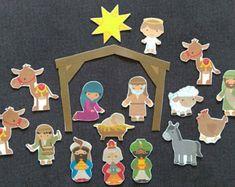 Nativity - Advent Felt Manger // A Child Is Born-Bible Story Felt Board Set// Flannel Board Story Set // Preschool  // Bible Story //