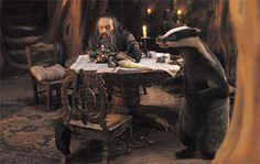 Trufflehunter the Badger & Nikabrik the Black Dwarf, from Prince Caspian