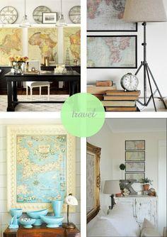 Using vintage maps as art | travel