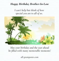 Birthday Greetings For Brother In Law 60th Quotes Its Your