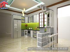 Tủ bếp gỗ công nghiệp phong cách thiết kế sang trọng, hiện đại TBX107