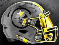New Nfl Helmets, Football Helmet Design, College Football Helmets, Football Gear, Football Workouts, Sport Football, Pittsburgh Steelers Helmet, Pitsburgh Steelers, 32 Nfl Teams