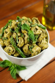 The Kitchen is My Playground: Pesto Tortellini Salad with Asparagus