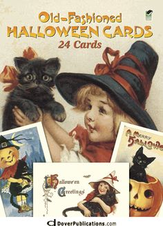 Old-Fashioned Halloween Cards: 24 Cards