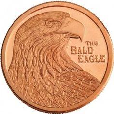 American Bald Eagle 1 Ounce Copper Round