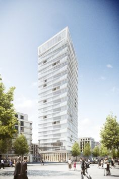 Tower 90 raumwerk Gesellschaft für Architektur und Stadtplanung mbH | 2016 Project website: http://www.rendertaxi.de/en/references/projects/01299.tower-90.html #highrise #office