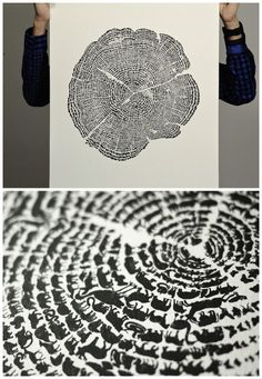This is awesome, a true piece of art. It is picture of the rings in a tree trunk but when you look closely there are lots and lots of tiny little animals that make up the rings. This piece of work is meant to highlight the responsibility that we have to all of the animal species that inhabit our planet. A poster of the piece is one sale for a reasonable price. I want one!