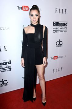 Singer Hailee Steinfeld attends Women in Music at YouTube Space LA.