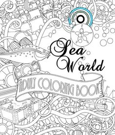Sea World Adult Coloring Book By Shirley D Lise