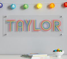 The beloved Flour Shop bakery is all about rainbows, glitter and smiles, so we partnered with Flour Shop founder Amirah Kassem to create decor for kids who share her signature style. These rainbow letters spell their name with pure joy. Rainbow Room Kids, Rainbow Bedroom, Rainbow House, Rainbow Theme, Rainbow Nursery Decor, Rainbow Stuff, Rainbow Crafts, Rainbow Wall, Nursery Themes