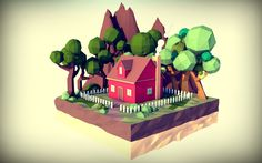 low poly house 3d model - Google Search