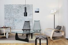 Artek was founded in 1935 by four young idealists, Alvar and Aino Aalto, Maire Gullichsen, and Nils-Gustav Hahl. Decor, Decorate First Home, Selling Furniture, Home Decor Trends, Home Decor, Artek, Furnishings, Noguchi Coffee Table, Living Room Designs