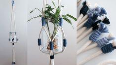 Macrame Plant Hanger for beginners DIY tutorial / 마크라메 플랜트 행거 Macrame Plant Hanger Patterns, Macrame Plant Hangers, Fashion Sewing, Diy Tutorial, Crafts, Youtube, Craft Ideas, Vases, Ideas