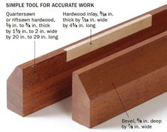 Shop Made Winding Sticks Guarantee Accuracy - FineWoodworking Woodworking Jigs, Carpentry, Woodworking Projects, Diy Tools, Hand Tools, Shaker Furniture, Mortise And Tenon, Tool Storage, Joinery