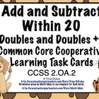 This set of 28 self checking task cards focuses on CCSS 2.0A.2 (Addition and Subtraction with fluency within 20)The set can be used for whole class reviews, cooperative learning, centers, game show review, and extra practice.) ($1.50)