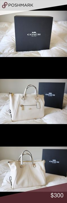 Coach leather primrose satchel shoulder bag This is a brand new coach bag in color chalk cream. Never been worn and still in original packaging Bags Satchels