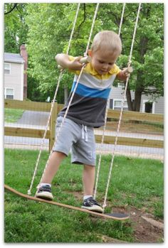 Love dreaming about a house- great Backyard ideas! This is a skateboard swing