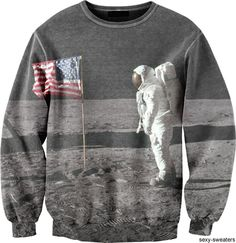 Tumblr | Man on the Moon Sexy Sweater. Rest in peace to Neil Armstrong. #USA