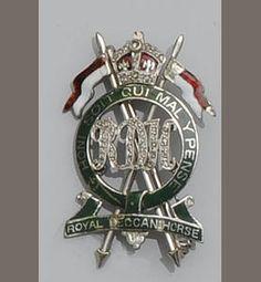 A silver and enamel Royal Deccan Horse Regiment sweetheart brooch. (Bonhams)