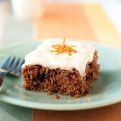 From Cooking Light: This lightened carrot cake recipe features a tender cake packed with grated carrot, flaked coconut, and chopped pecans. Just like a traditional carrot cake, this cake is topped with a thick cream cheese frosting. Low Carb Carrot Cake, Moist Carrot Cakes, Best Carrot Cake, Carrot Cake Recipe With Baby Food, Best Dessert Recipes, Baby Food Recipes, Cake Recipes, Cooking Recipes, Dessert Ideas