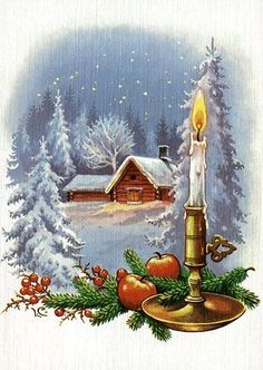 Christmas cards with the name of the designer - (used cards are in very good condition) - Renate Drivdal - Picasa-verkkoalbumit Norwegian Christmas, Christmas Scenes, Old Fashioned Christmas, Christmas Candles, Christmas Past, Winter Christmas, Vintage Christmas Images, Vintage Holiday, Christmas Pictures