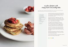 Zucchini fritters with crispy bacon and smoky salsa Fodmap Diet, Low Fodmap, Zucchini Fritters, Fodmap Recipes, Low Carb Keto, Summer Recipes, Bacon, Cooking Recipes, Eat