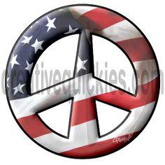 www.cafepress.com/peacethemes www.creativequickies.com www.facebook.com/creativequickies American flag old glory peace sign symbol.