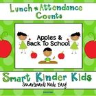 Apple/Back to School Theme - Looking for a fun way to do Lunch Count and Attendance? This is a great way to accomplish some of your morning routines while allowing your student...