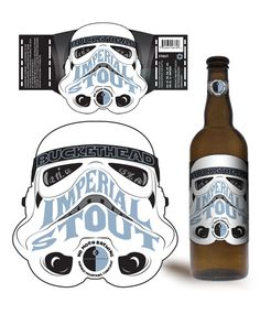 Why isn't this real, make it real! Buckethead Imperial Stout by Brion Salazar, via Behance