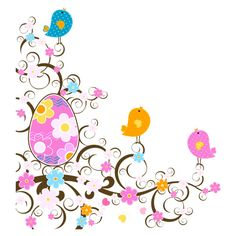 Easter Decoration with Flowers PNG Transparent Clipart ❤ liked on Polyvore featuring easter and flowers