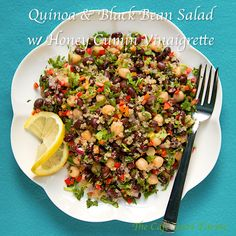 Black Bean & Quinoa Salad w/ Honey-Cumin vinaigrette