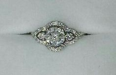 Beautiful vintage white gold engagement ring