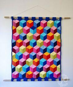 ColoridoEcletico: Painel de crochê