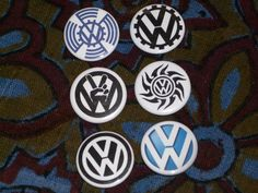 VW pin back button set of 6. $7.00, via Etsy.