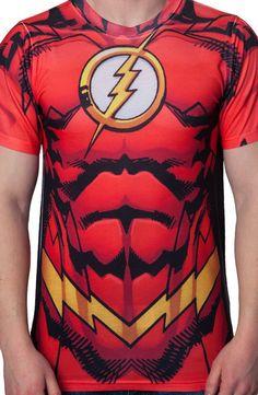 Flash Costume T-Shirt - Superhero T-Shirt