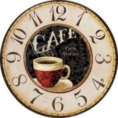 Clock Craft, Diy Clock, Blank Clock Faces, Clock Face Printable, Paper Clock, Fancy Watches, Wood Clocks, Decoupage Paper, I Love Coffee