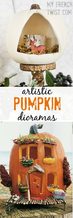 pumpkins and scarecrows and ghosts, oh my - My French Twist Halloween Diorama, Halloween Party Decor, Halloween Halloween, Halloween Treats, Halloween Pumpkins, Pumpkin Crafts, Fall Crafts, Holiday Crafts, Crafts To Make