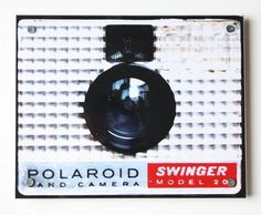 Giant Drink Coaster Table or Wall Art Polaroid Swinger Camera Photograph from Scott: