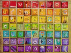 Rainbow Inchies by Phizzychick!   These are so beautiful. Inchies are officially on my to try list.