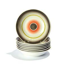 NORA GULBRANDSEN KRISTIANIA 1894 - OSLO 1978 Dessertskåler Porsgrund Porselen. Art deco. 1930-tallet.