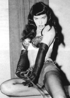 Bettie Page--pinup model from the 50s with a real figure. - Really?? The 50's! Ha
