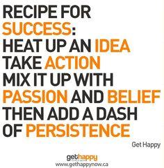 Recipe for Success!