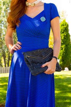 My Refined Style Linkup #13- My Collaboration with Karina Dresses- Cobalt Blue with The Trudy Style+GIVEAWAY - Elegantly Dressed & Stylish - Over 40 Fashion Blog