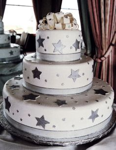 The Cakemaker - I love this non-traditional wedding cake... no flowers for me!