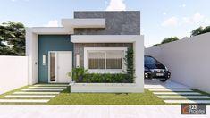 123 Projetei 177 Fachadas de casas terreas Fachadas de casas Fachadas de casas pequenas
