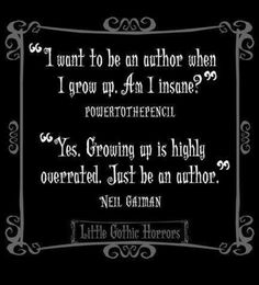 Neil Gaiman is one of those people I'd like to hang out and share a pint with.