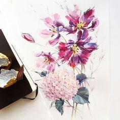 Pretty Watercolor Flowers by Natalia Tyulkina