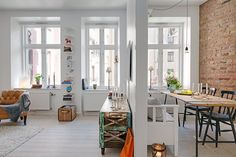 featured posts image for Lovely Scandinavian apartment with inspiring details Scandinavian Apartment, Scandinavian Home, Small Apartments, Small Spaces, Open Spaces, Rustic Barn Homes, Sweet Home, Patio Interior, Cosy Interior