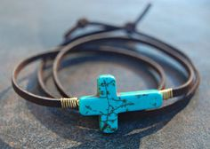 Leather Wrap Bracelet Boho Wrap Bracelet by GypsySolDesigns, $24.00